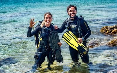 preparation for diving