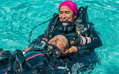 testing scuba gear
