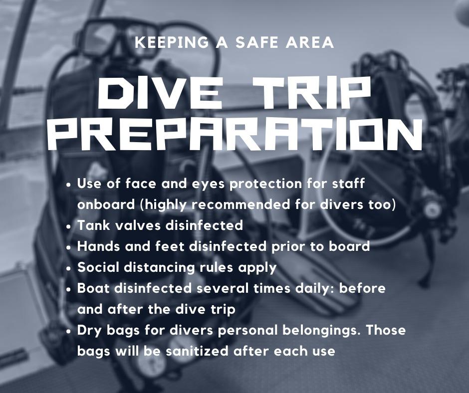 dive trip preparation